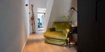 woning met een houten vloer